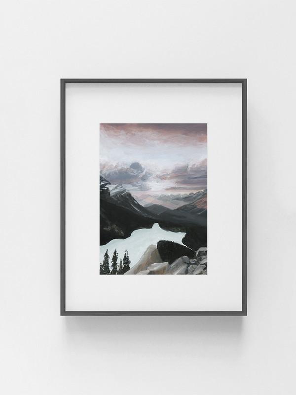 Clarissa-Mae-Art-Sunrise-by-Peyto-Lake-Dark-frame.jpg
