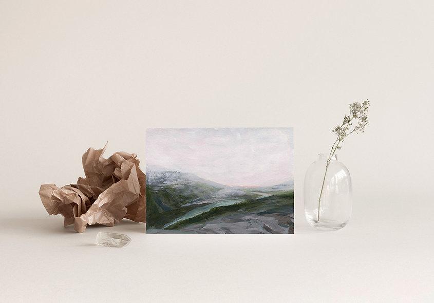 """From My Memories of Peyto Lake"" Horizontal Landscape"