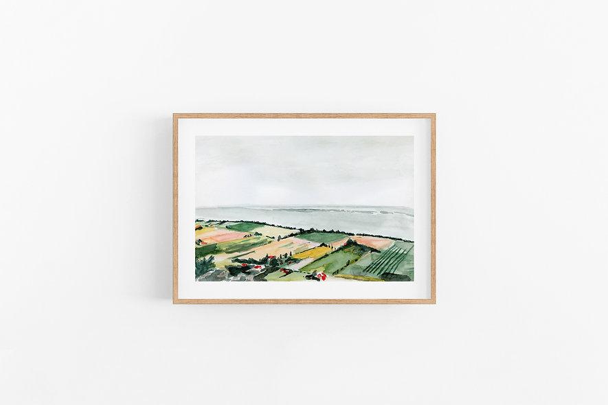 Coastal Countryside |  A Horizontal Print