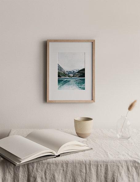 """Glistening Lake Louise"" | A Vertical Print"