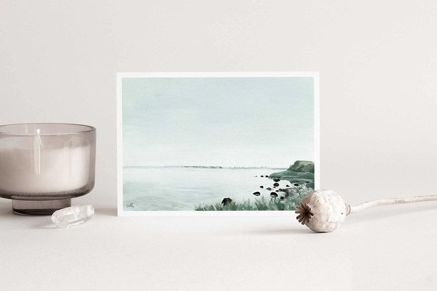 """Waves Carry Memories - ii"" Horizontal Landscape"