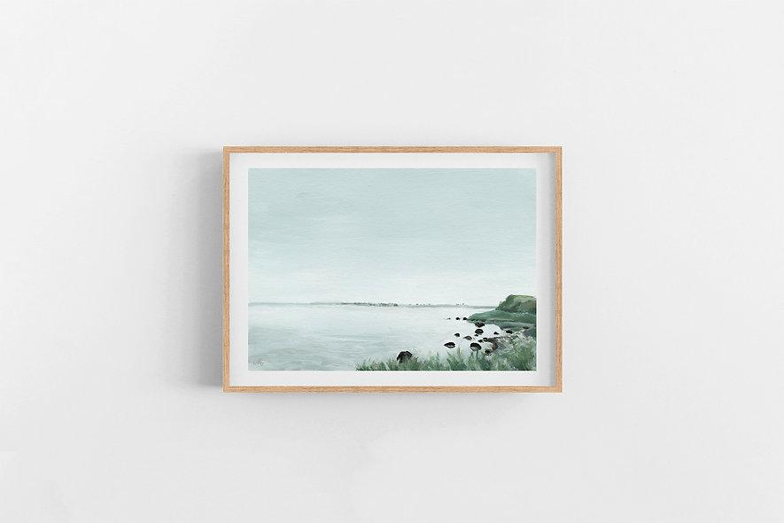 """""""Waves Carry Memories - ii""""   A Horizontal Print"""