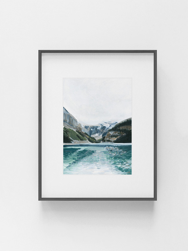 Clarissa-Mae-Art-Glistening-Lake-Louise-Dark-frame.jpg