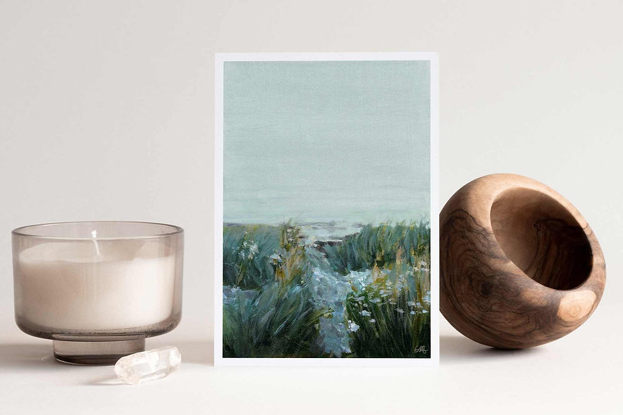 """Wildflowers Before Dawn"" Vertical Landscape"