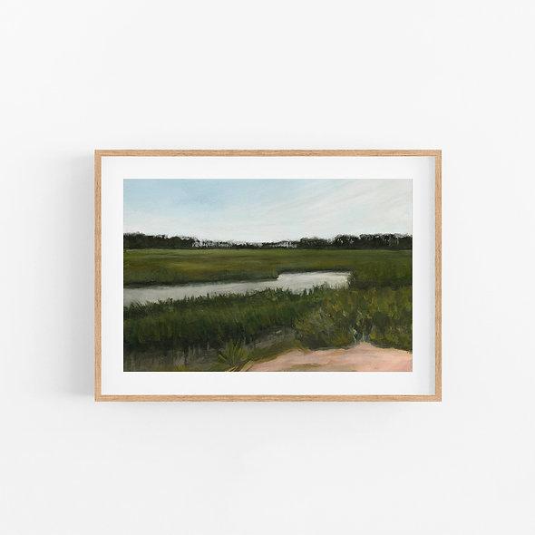 Savannah Marshes   A Horizontal Print