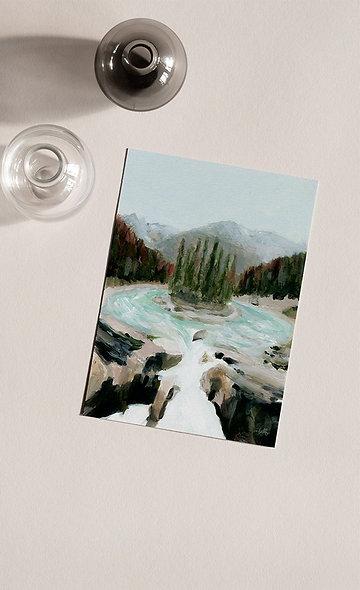 """Sunwapta Falls"" Vertical Landscape"