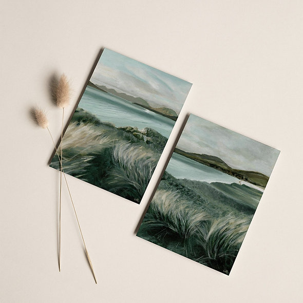 """Daybreak Shore""   Set of Two Vertical Prints"