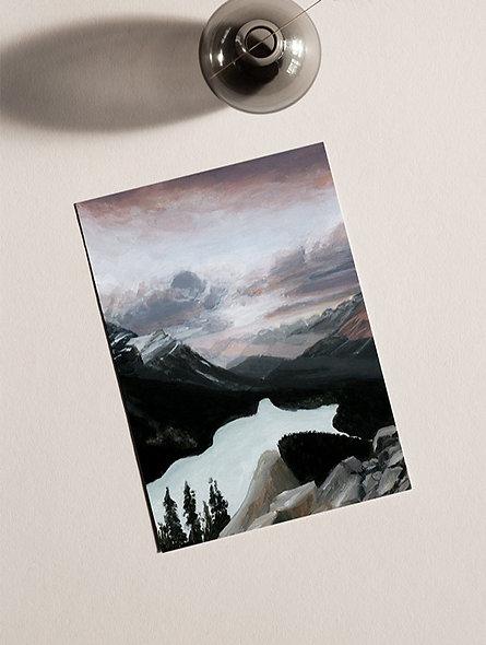 """Sunrise at Peyto Lake "" Vertical Landscape"