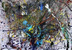 "Abstrakte-Malerei ""Explodierende Ste"