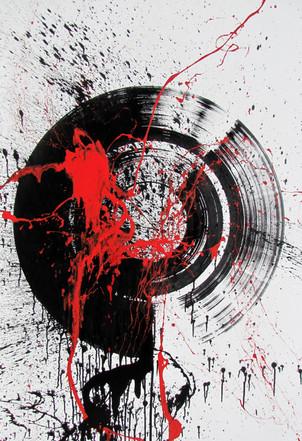 Abstrakter schwarzer Kreis