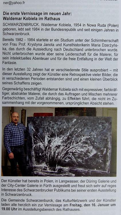 Die erste Vernissage im neuen Jahr: Waldemar Kobiela im Rathaus