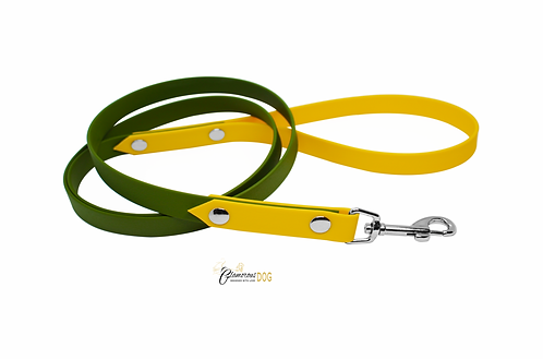 Leash green with yellow from the BioThane