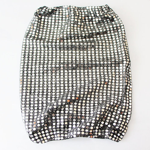Snood with silver sequins without canary