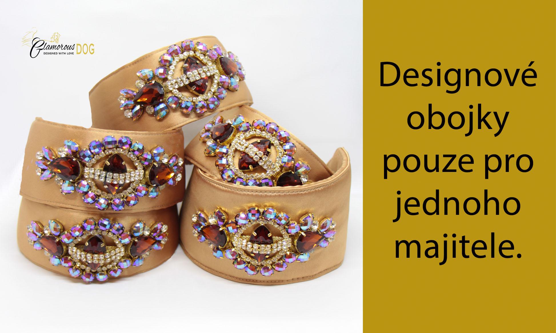 Designové obojky_zlaté