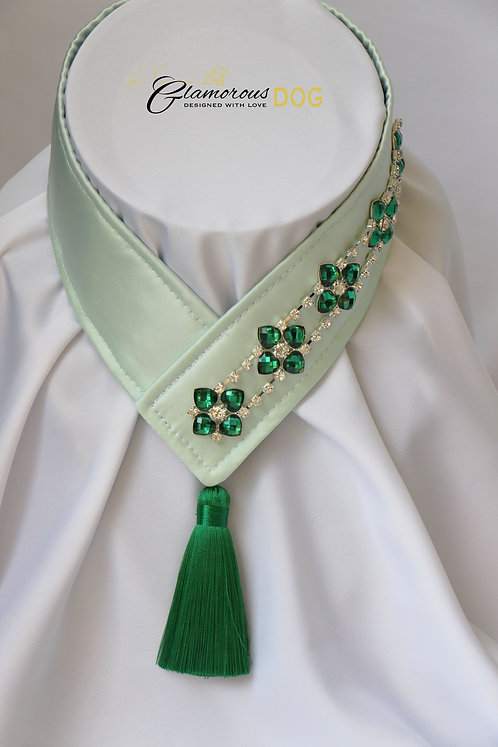 Collar for finals - light green with chain