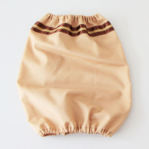 Fabric snood - beige with a stripe