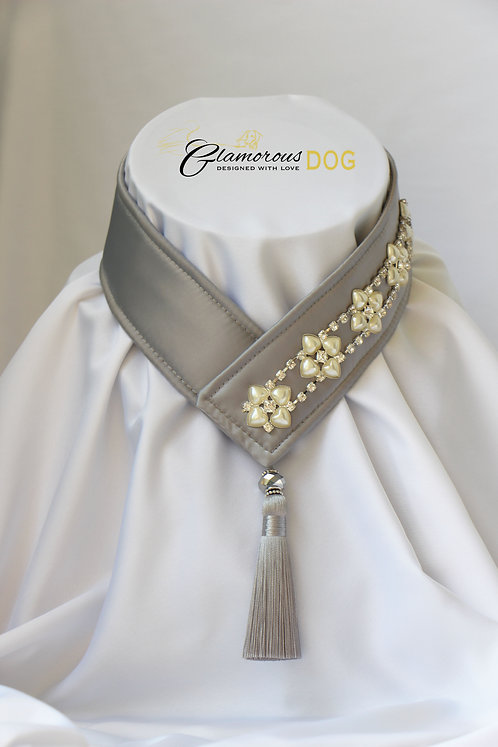 Collar for finals - grey with chain