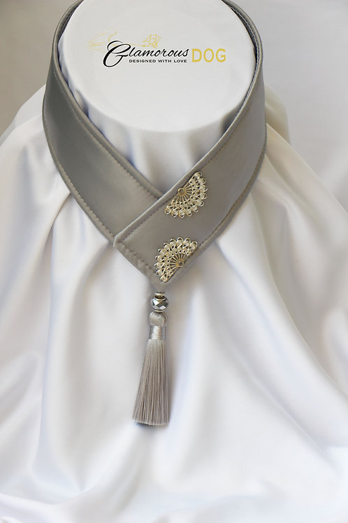 Collar for finals - grey with metal plate 3