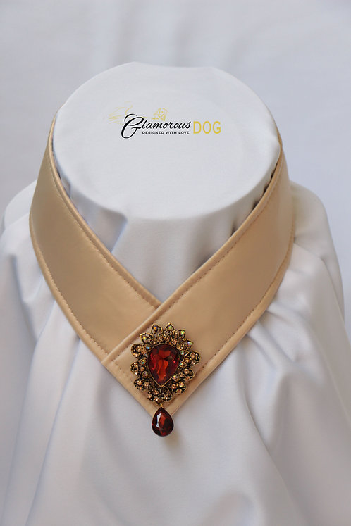 Collar for finals - beige with jewel 2