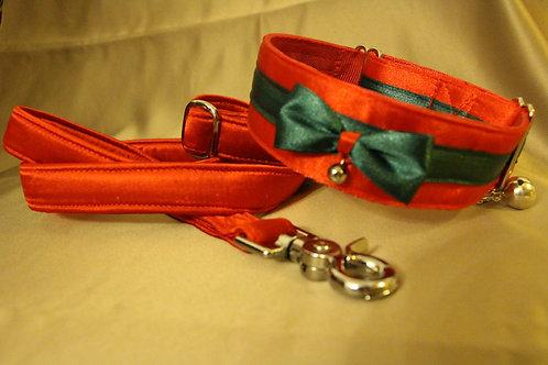 Christmas collar - red