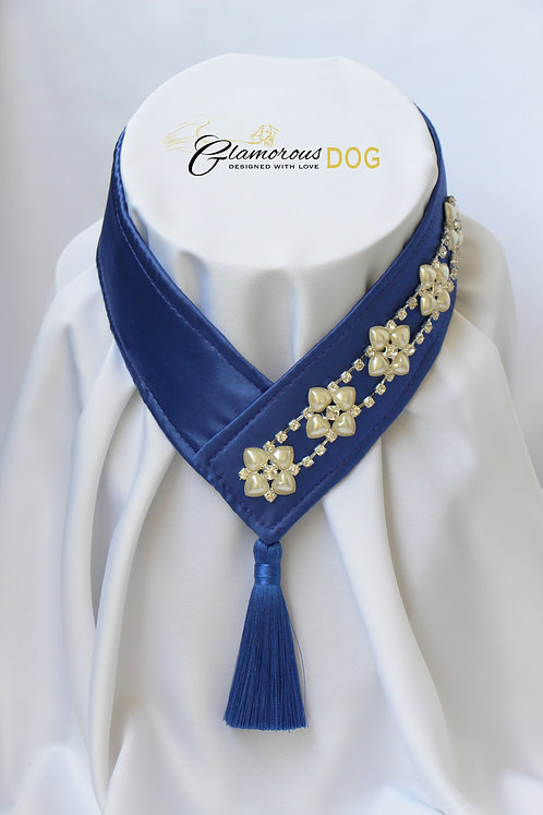 Collar for finals - dark blue with chain