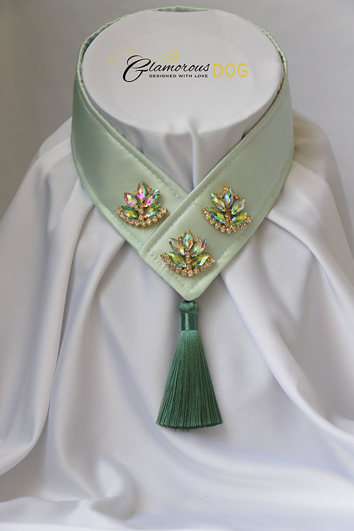 Collar for finals - light green with jewel