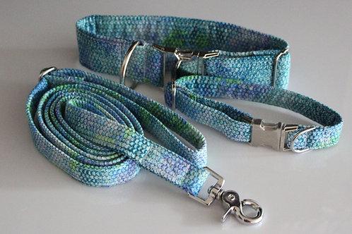 Snake collar - blue 2,5cm