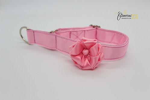 Light pink dog collar with flower