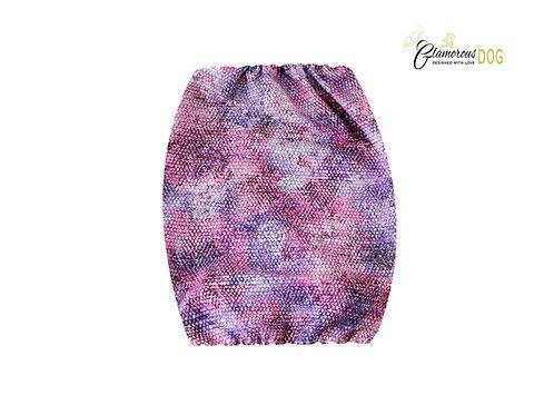 Fabric snood - snake pattern purple
