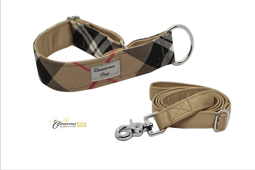 Cube collar with beige