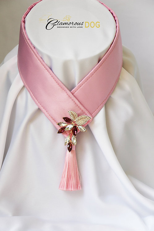 Collar for finals - light pink with jewel 3