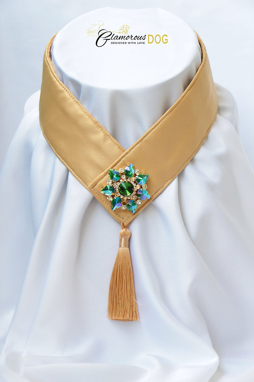 Límeček žlutý zdobený šperkem