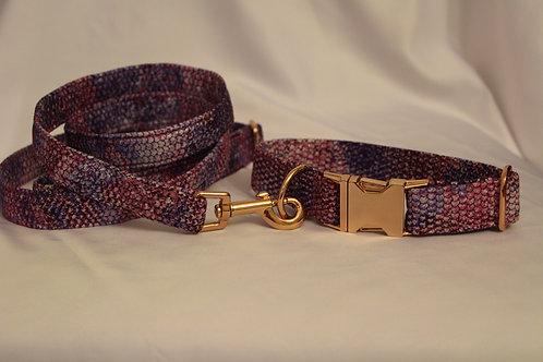 Hadí obojek fialovo-růžový 2,5cm