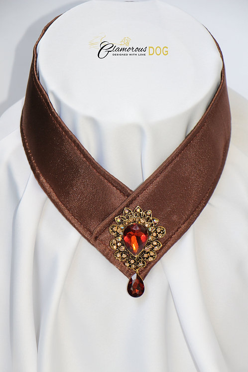 Collar for finals - brown with jewel 2