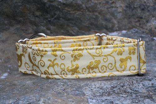 Brokátový obojek - zlatý