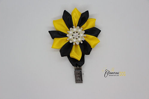 Deluxe dog show clip - yellow-black