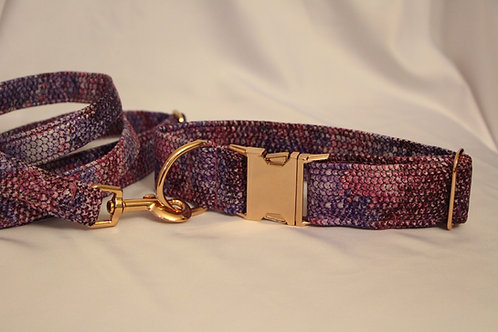 Snake collar - purple&pink 4cm