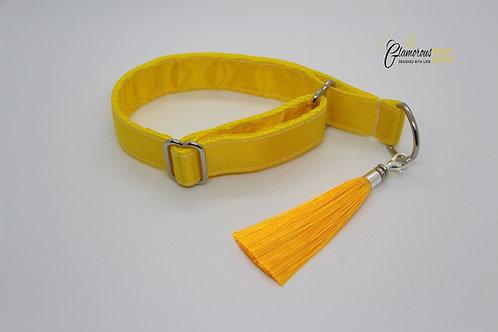 Yellow collar with tassel