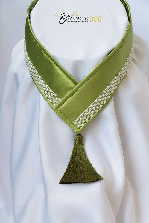 Límeček zelený s perličkami