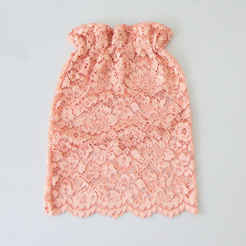 Pink lace snood