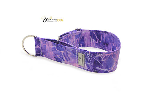 Adjustable collar purple metrix with the possibility of a leash