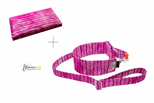 Releasing set with document case - pink pattern