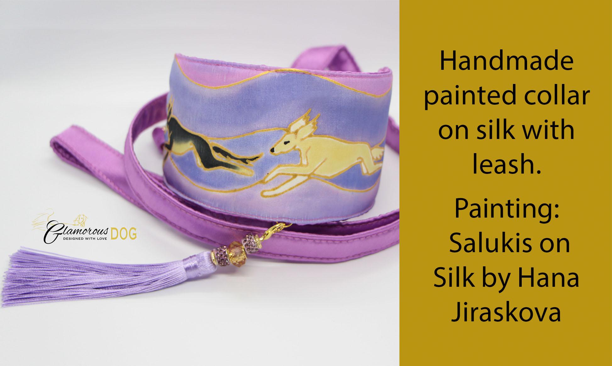Collar on silk_purple