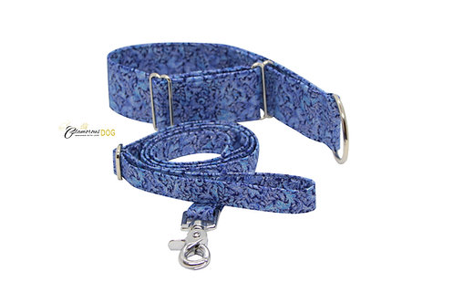 Adjustable collar blue with the possibility of a leash