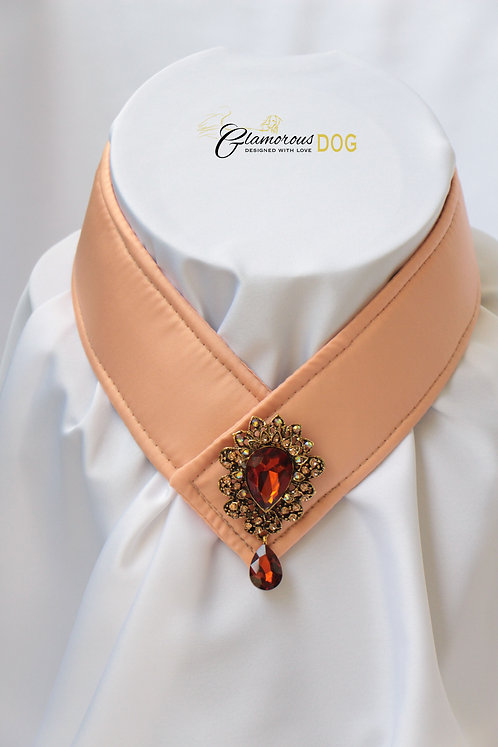 Collar for finals - salmon with jewel