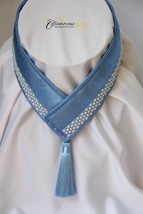 Límeček modrý s perličkami
