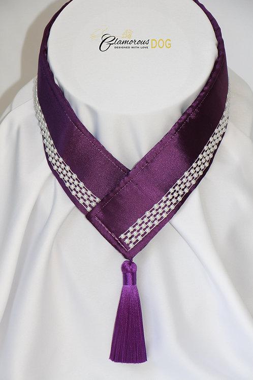 Límeček fialový s perličkami