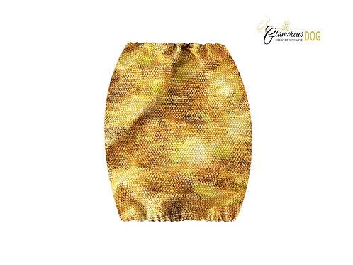 Fabric snood - gold snake pattern
