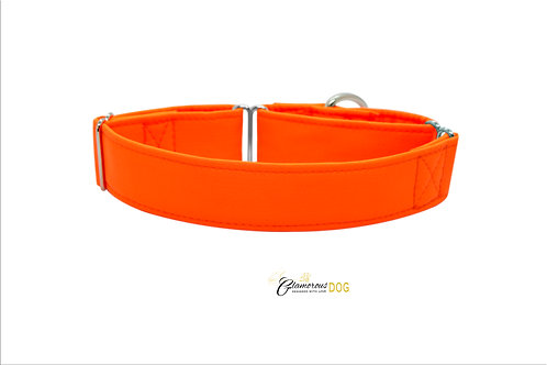 Nastavitelný softshellový obojek oranžový s možností vodítka