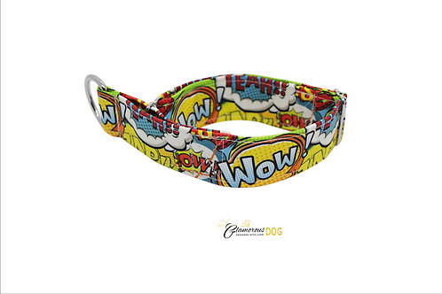 Adjustable softshell comics collar with the possibility of a leash